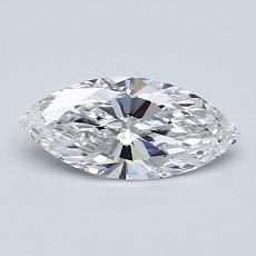 0,61-Carat Marquise Diamond Very Good D IF