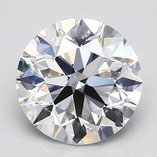 2.00-Carat Round Diamond Ideal D VVS2