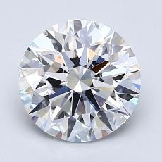 2.00-Carat Round Diamond Ideal D FL