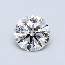 0.80-Carat Round Diamond Ideal I SI2