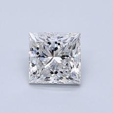 0.81 Carat 公主方形 Diamond 非常好 G VVS2