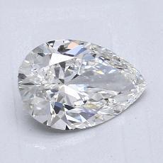1.02-Carat Pear Diamond Very Good G IF
