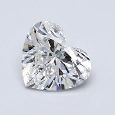 Piedra recomendada 1: Forma de corazón de 1.01 quilates