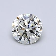 0.91 Carat 圓形 Diamond 非常好 K SI2