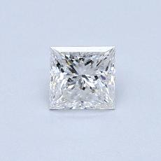 0.41-Carat Princess Diamond Very Good E VVS1