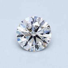 0.70 Carat 圆形 Diamond 理想 D VVS1