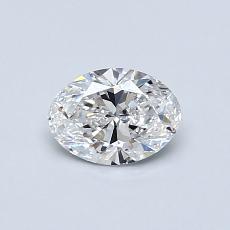 0.53 Carat 椭圆形 Diamond 非常好 F IF
