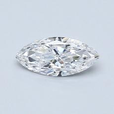 0.42-Carat Marquise Diamond Very Good D VVS1