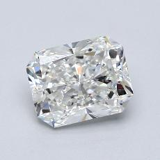 Pierre cible: Diamant taille radiant 1,80 carats