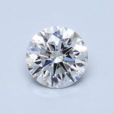 0.81-Carat Round Diamond Ideal D VVS1