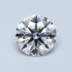 0,92-Carat Round Diamond Ideal D FL