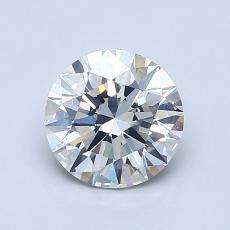 1.01-Carat Round Diamond Ideal H SI1