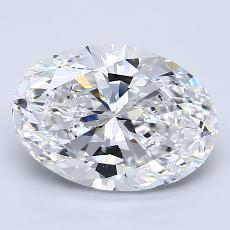 2.51 Carat 椭圆形 Diamond 非常好 D VS1