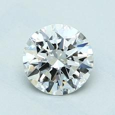 1.00-Carat Round Diamond Ideal E VVS2
