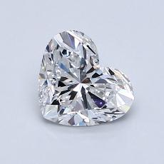 1,00-Carat Heart Diamond Very Good D VS1