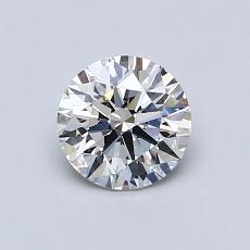 0,75-Carat Round Diamond Ideal F VVS1