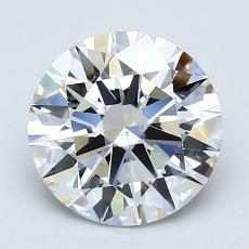 2.01-Carat Round Diamond Ideal F VS2