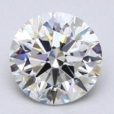 1.70-Carat Round Diamond Ideal H VS2