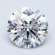 1.60-Carat Round Diamond Ideal D IF