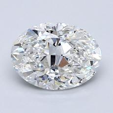 1.50-Carat Oval Diamond Very Good F VVS2