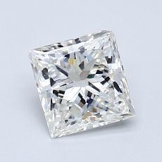 推荐宝石 1:0.93 克拉公主方形钻石