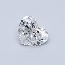 0.50-Carat Heart Diamond Very Good D VVS2