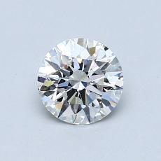 0.60 Carat 圆形 Diamond 理想 E VS2