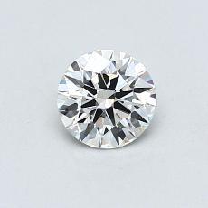 0.50-Carat Round Diamond Ideal G VVS2