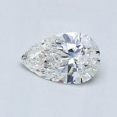 0.56-Carat Pear Diamond Very Good F VVS1