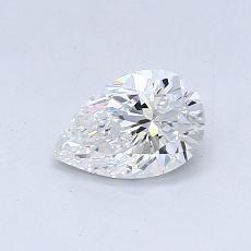 0.51-Carat Pear Diamond Good E VS2