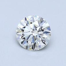 0.72 Carat 圆形 Diamond 理想 J VVS1