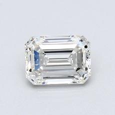 Pierre recommandée n°4: Diamant taille émeraude 0,81 carat