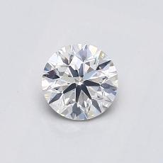 推薦鑽石 #3: 0.55 克拉圓形切割鑽石