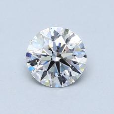 0.60 Carat 圆形 Diamond 理想 E VS1