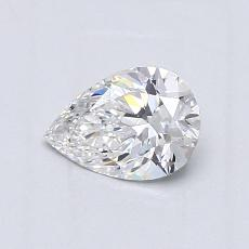 0.60-Carat Pear Diamond Very Good D VVS1