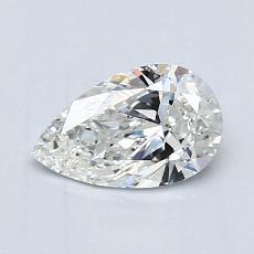 目标宝石:0.75 克拉梨形切割钻石