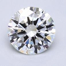 1.50 Carat 圆形 Diamond 理想 H VVS2