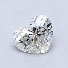 1.01-Carat Heart Diamond Good H SI2