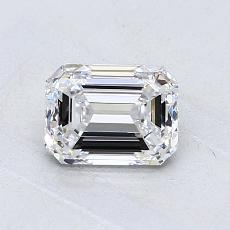 1.01-Carat Emerald Diamond Very Good D VVS1