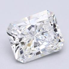 2.08-Carat Radiant Diamond Very Good F VS2