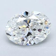 推薦鑽石 #2: 3.06 克拉橢圓形切割鑽石