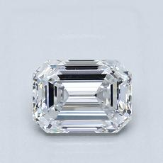 1.01-Carat Emerald Diamond Very Good D IF