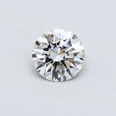 0.44-Carat Round Diamond Ideal H SI1