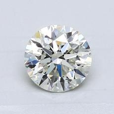 1,00-Carat Round Diamond Ideal K VS1