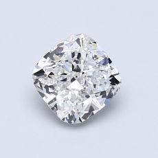 目标宝石:0.90 克拉垫形钻石