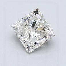 推荐宝石 1:1.20 克拉公主方形钻石
