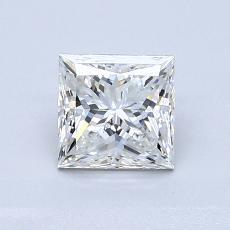 1,03 Carat Princesse Diamond Très bonne G SI2