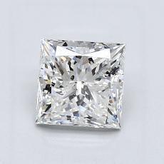 推薦鑽石 #4: 1.21  克拉公主方形鑽石