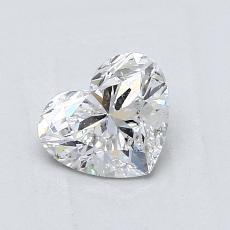 Piedra recomendada 4: Diamante con forma de corazón de 0.88 quilates