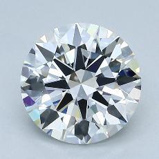 2.05-Carat Round Diamond Ideal G VVS1